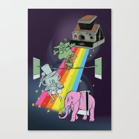 POLAROID SX70 CAMERA CIRCUS Canvas Print