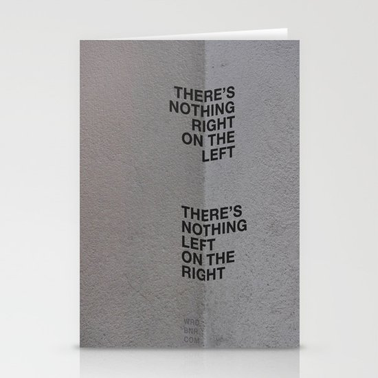 Left/Right Stationery Card