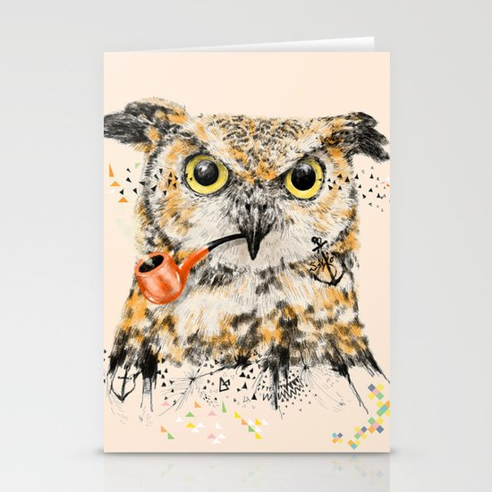 Mr.Owl II Stationery Card