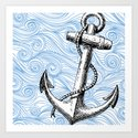 Nautical Series - The Anchor Art Print