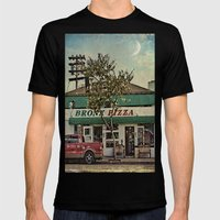 Bronx Pizza Mens Fitted Tee Black SMALL