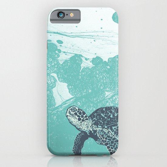 Sea Foam Sea Turtle iPhone & iPod Case