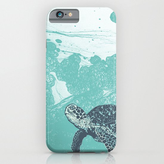 Sea Foam Sea Turtle iPhone & iPod Case