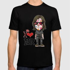 We love Norman! Black Mens Fitted Tee SMALL