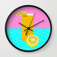 Lemonade /// www.pencilmeinstationery.com Wall Clock
