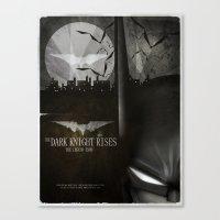 dark knight rises movie fan poster Canvas Print