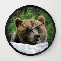 Alaskan Brown Bear :: Th… Wall Clock