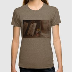 Remember History Womens Fitted Tee Tri-Coffee SMALL