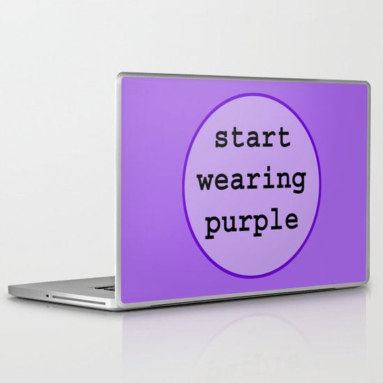 Start Wearing Purple Laptop & iPad Skin