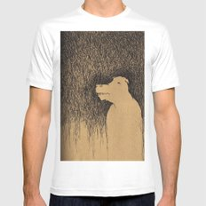 Fading Slowly White Mens Fitted Tee SMALL
