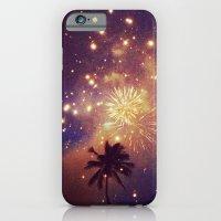 Palm tree fireworks iPhone 6 Slim Case