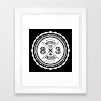 Motivate & Inspire (White) Framed Art Print