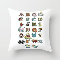 The Disney Alphabet - Wh… Throw Pillow