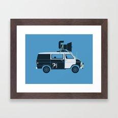 The Blues Brothers' Van Framed Art Print