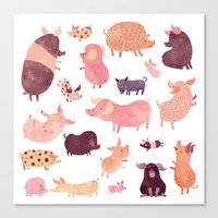 Pig Pig Pig  Canvas Print