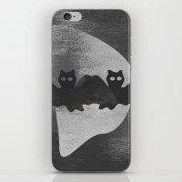 Bat night iPhone & iPod Skin