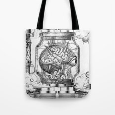 Mother Brain Super Metroid Engraving Scene Tote Bag
