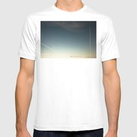 scratched sky Mens Fitted Tee White SMALL