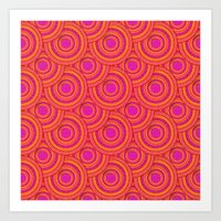 Tropical Parasols Pattern Art Print