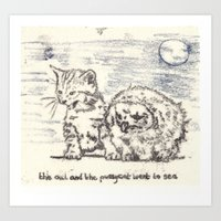 The Owl And The Pussycat… Art Print