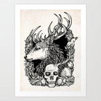 Eat The Rude Inks Art Print