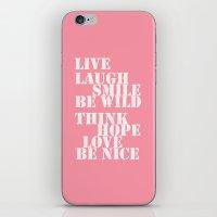 Positive Attitude Pink iPhone & iPod Skin