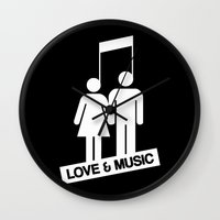 Love And Music Wall Clock