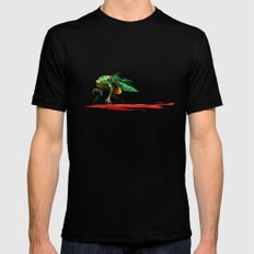 Mad fly Mens Fitted Tee Black SMALL
