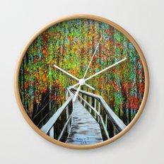 Walkway  in the woods  Wall Clock