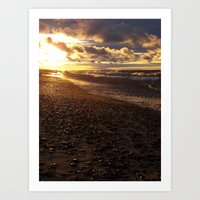 Stormy  Superior Sunset Art Print