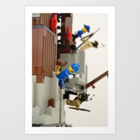 Lego Fight Art Print