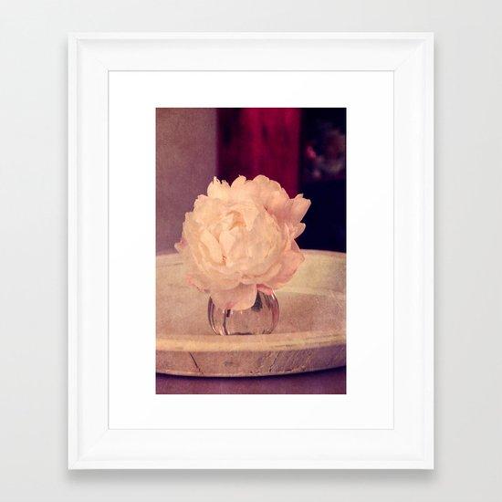 white peony II Framed Art Print