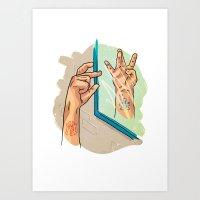 from NY to LA Art Print