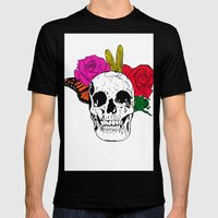 Skull I Mens Fitted Tee Black SMALL