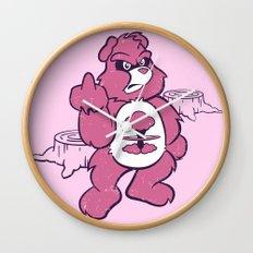 Don't Care Bear  Wall Clock
