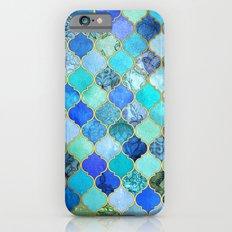 Cobalt Blue, Aqua & Gold… iPhone 6 Slim Case