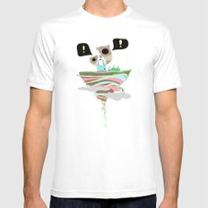 Dreaming for an adventure. SMALL White Mens Fitted Tee