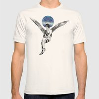 DAVID BOWIE ANGEL Mens Fitted Tee Natural SMALL