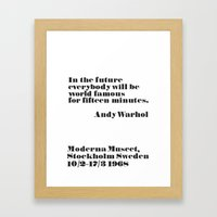 In the future Framed Art Print