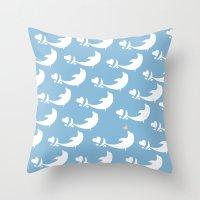 Joyful Dolphin Dancing in the Ocean Throw Pillow