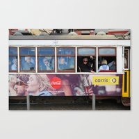 Tram in Lisbon Canvas Print