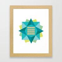 Abstract Lotus Flower - … Framed Art Print
