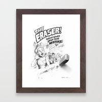 The Eraser Framed Art Print