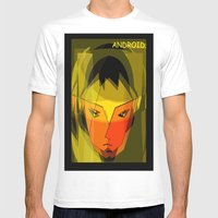 ANDROID. Mens Fitted Tee White SMALL