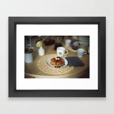Butter Pancakes Breakfast Framed Art Print