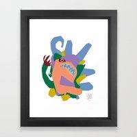 Creature 2 Framed Art Print