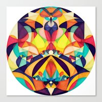 Poetry Geometry Canvas Print