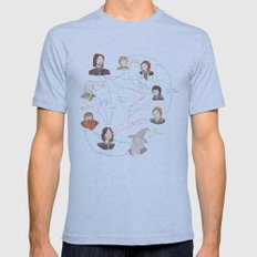 Fellowship Relationship Chart Mens Fitted Tee Athletic Blue SMALL