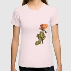 Rose Womens Fitted Tee Light Pink SMALL