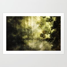 SCIENTIFICALLY I AM INCLINED TO BELIEVE IN THE EXISTENCE OF LIGHT [ex. a]  Art Print